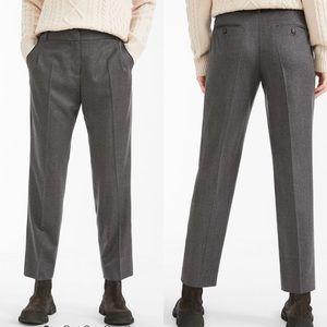 Max Mara Weekend Wool Flannel Trousers Gray